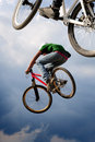 Airborne bikes Stock Photo