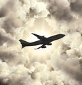 Airbus big in the sky Royalty Free Stock Photos