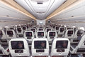 Airbus a cabin paris jun view of qatar airways qatar airways is the first user of the with it s first flight on january Royalty Free Stock Photo
