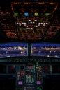 Airbus cockpit Royalty Free Stock Photos
