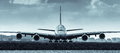 Airbus A380 jet airliner - front view Royalty Free Stock Photo