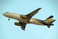 Airbus a of shaheen airlines during the landing phase Stock Photos