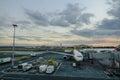 Aircarfts at NAIA Airport in Manila, Philippines Royalty Free Stock Photo