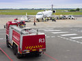 Aircraft being turned around george south africa dec a sa express passenger on dec at george airport Stock Image