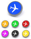 Aircraft buttons Stock Image