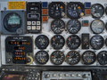 Aircraft cockpit engine fuel instruments flight Royalty Free Stock Photo