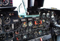 Aircraft cockpit panel Royalty Free Stock Image