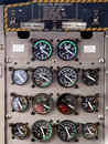 Aircraft control panel display Stock Photos