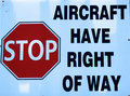 Aircraft have right of way Royalty Free Stock Photo