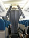Aircraft Interior fittings Stock Photography