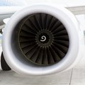 Aircraft jet engine detail Royalty Free Stock Photos