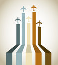 Aircraft line over vintage background vector illustration Royalty Free Stock Photo