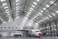 Aircraft Maintenance Hangar Royalty Free Stock Photo