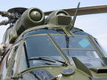 Aircraft - Military helicopter closeup Stock Photos