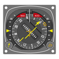 Aircraft navigation indicator - HSI Stock Images