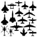 Aircraft plane airplane army jet Stock Image
