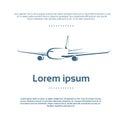 Aircraft Plane Logo Color Icon Vector Royalty Free Stock Photo
