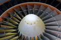 Aircraft turbine detail Stock Photography