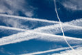 Aircraft Vapour Trails Royalty Free Stock Photo