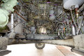 Aircraft wheel mechanism Royalty Free Stock Photo