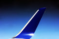 Aircraft winglet during flight Royalty Free Stock Image