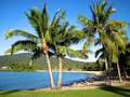 Airlie beach in the whitsundays is a popular tourist destination known as gateway to great barrier reef australia Stock Photos