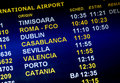 Airline arrival times Royalty Free Stock Photo