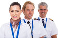 Airline crew portrait close up of on white Stock Photography