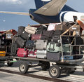 Airline luggage Royalty Free Stock Photography