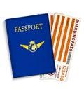 Airline passenger boarding pass tickets