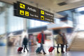 Airline Passengers in an Airport Royalty Free Stock Photo