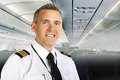 Airline pilot on board Stock Photography