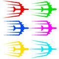 Airliner jet flying airplane stylized vector illustration Stock Photo