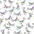 Airliner seamless patter illustration of color Royalty Free Stock Photos