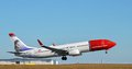 Airliner takeoff Royalty Free Stock Photo