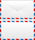 Airmail envelope Stock Photo