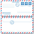 Airmail envelope with stamps vector illustration eps used drop shadow effect Stock Image