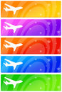 Airplane banners Royalty Free Stock Image