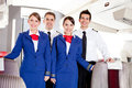 Airplane cabin crew Royalty Free Stock Images