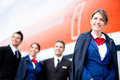 Airplane cabin crew Royalty Free Stock Photography