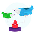 Airplane carousel Royalty Free Stock Image