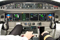 Airplane cockpit-the best office Royalty Free Stock Photo
