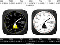 Airplane cockpit instrument clock with day and date function vector Royalty Free Stock Photo