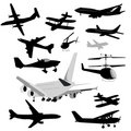 Airplane Collection Stock Photo