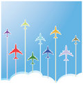 Airplane colors Royalty Free Stock Image