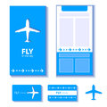 Airplane corporate identity abstract decorative background with and city Royalty Free Stock Photo
