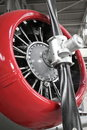Airplane engine  and propeller Stock Photo