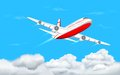 Airplane flying in Sky Royalty Free Stock Photo