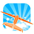 Airplane illustration Royalty Free Stock Photo