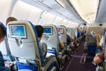 Airplane interior Royalty Free Stock Photo